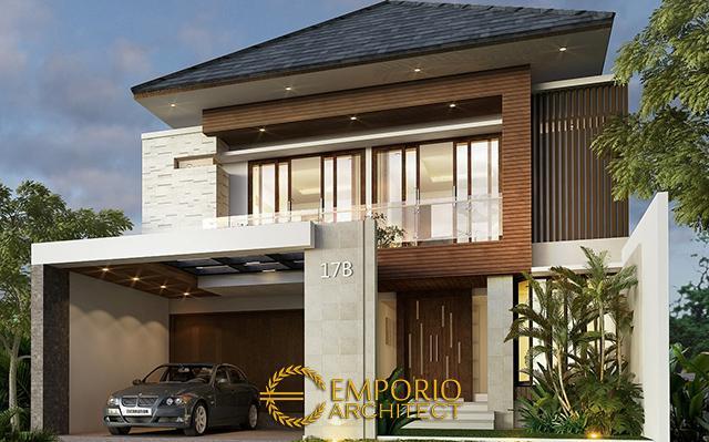 Desain Rumah Modern 2 Lantai Ibu Ridha di  Jakarta