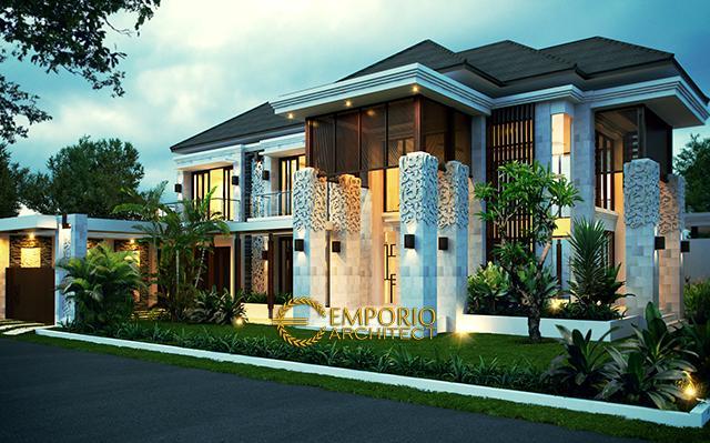 Desain Rumah Villa Bali 2 Lantai Ibu Rina di  Cibubur, Jakarta