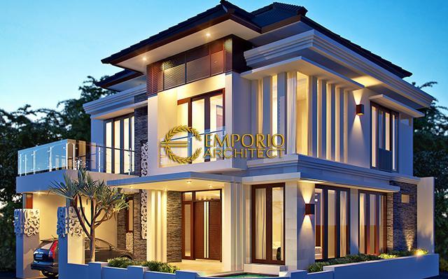Desain Rumah Hook Villa Bali 2 Lantai Ibu Rini di  Jakarta