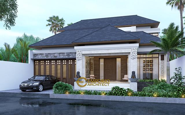 Desain Rumah Villa Bali 2 Lantai Ibu Susana di  Bandung