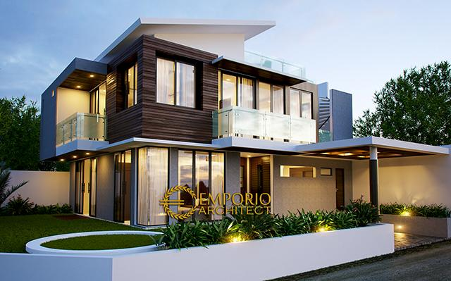 Desain Rumah Modern 2 Lantai Ibu Suzan di  Jakarta