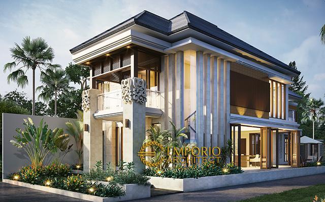 Desain Rumah Hook Villa Bali 2 Lantai Ibu Uum di  Yogyakarta