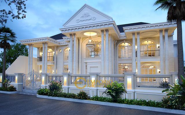 Desain Rumah Classic 2 Lantai Ibu Wilma di  Jakarta