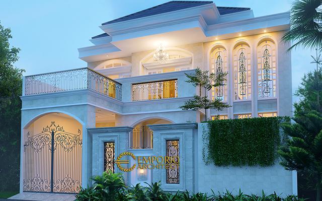 Desain Rumah Classic 2 Lantai Ibu Yanti di  Jakarta