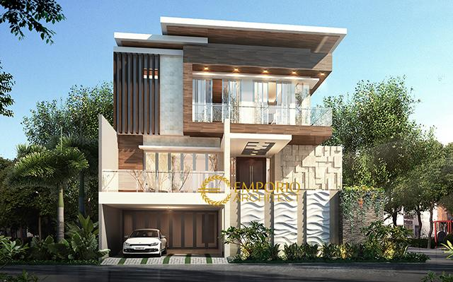 Mrs. Yoke Modern House 3 Floors Design - Jakarta
