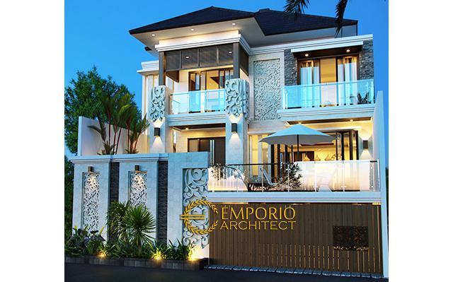Desain Rumah Villa Bali 3 Lantai Ibu Yunita di  Cibubur, Jakarta
