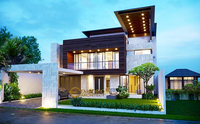 Desain Rumah Modern 2 Lantai Bapak Andri di  Cikarang, Bekasi