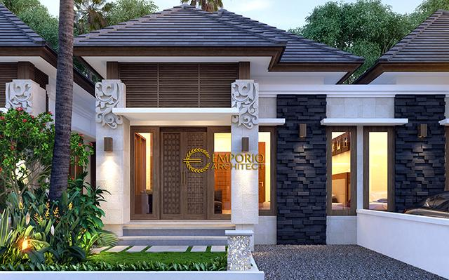 Desain Ubud Hills Style Villa Bali 1 Lantai di  Bekasi