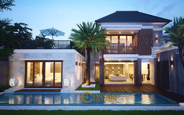 Desain Villa Style Villa Bali 2 Lantai Bapak Robert di  Seminyak, Bali