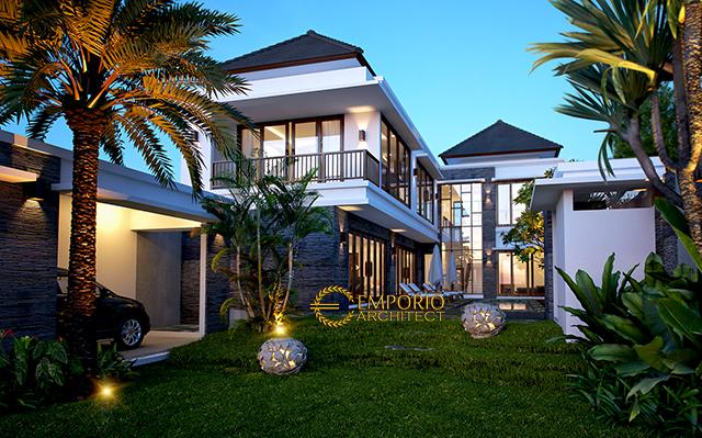 Desain VIlla Modern 2 Lantai Ibu Cempaka di  Canggu, Bali