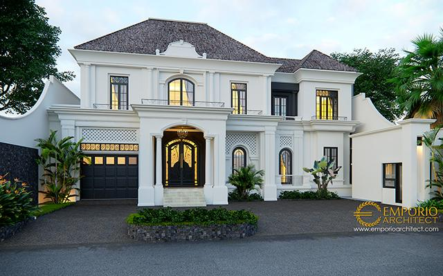 Mr. Gusti Classic House 2 Floors Design - Jakarta