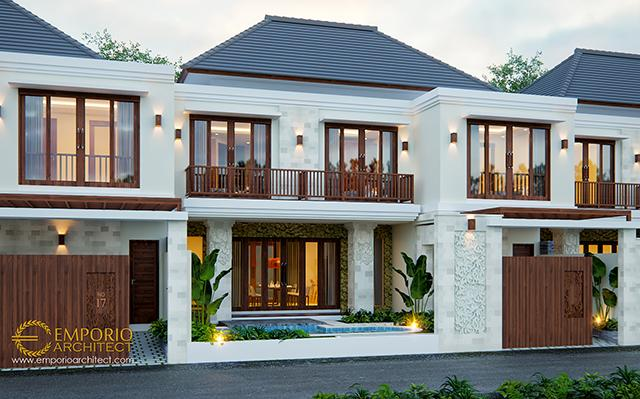 Desain Kompleks Villa Style Villa Bali 2 Lantai Ibu Marina di  Gianyar, Bali