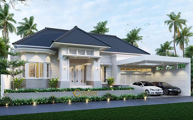 Desain Rumah Classic 1 Lantai Bapak Dede Darsono di  Indramayu, Jawa Barat