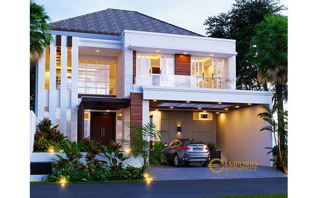 Desain Rumah Modern 2 Lantai Ibu Tiffany di  Jakarta Barat
