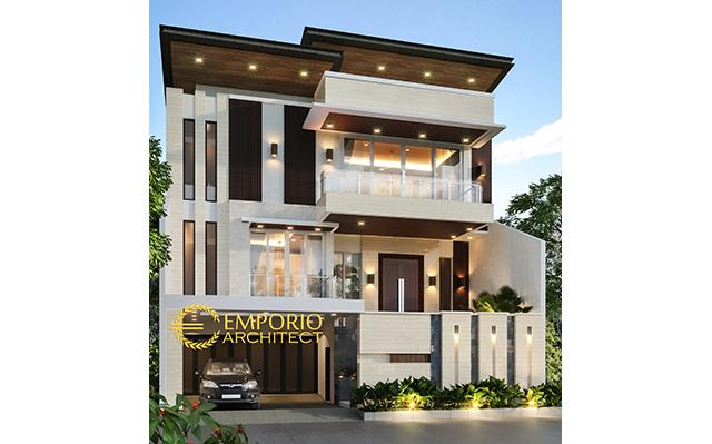 Desain Rumah Modern 3 Lantai Ibu Lie Sien di  Jakarta Barat