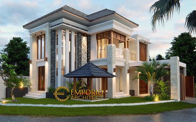 Desain Rumah Hook Villa Bali 2 Lantai Bapak Adit Brata II di  Jakarta