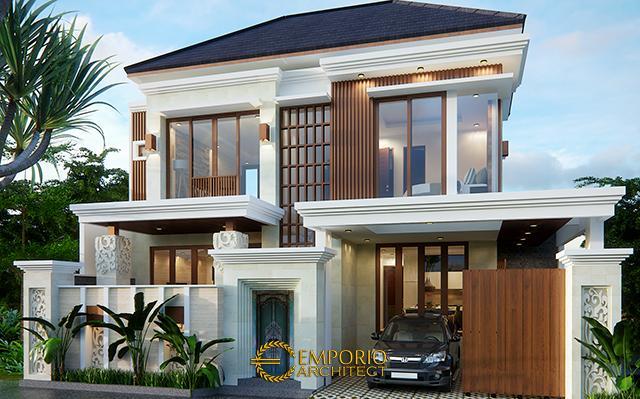 Desain Rumah Villa Bali 2 Lantai Bapak Agung di  Jakarta