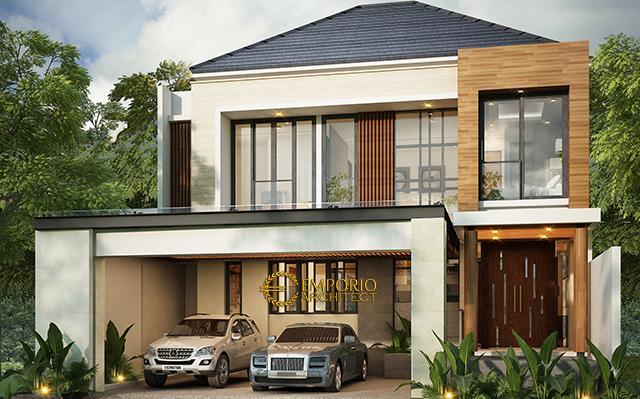 Desain Rumah Modern 2 Lantai Bapak Andrean Siahaan di  Jakarta Selatan