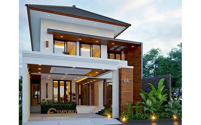 Mr. Anton M. Purba Modern House 2 Floors Design - Jakarta