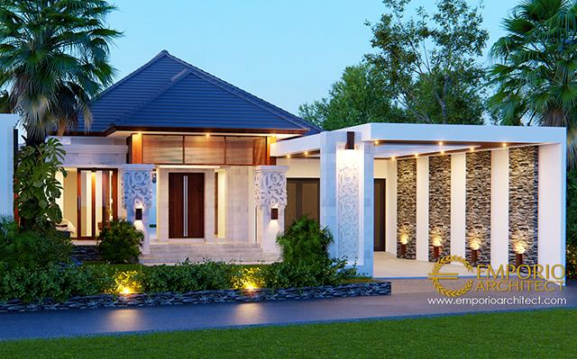 Desain Rumah Villa Bali 1 Lantai Bapak Arnold di  Jakarta
