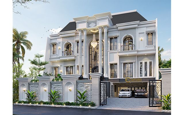 Mr. Calvin Classic House 3 Floors Design - Jakarta
