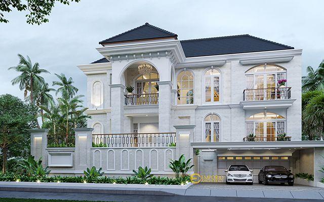 Desain Rumah Mediteran 3 Lantai Bapak Darwis di  Jakarta Selatan