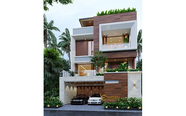 Desain Rumah Modern 3 Lantai Bapak Dedy di  Jakarta