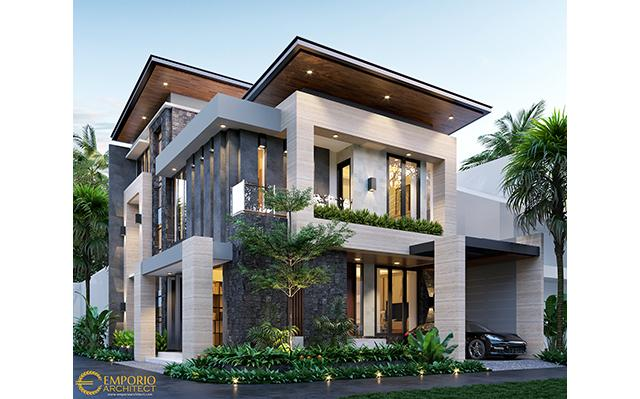 Mr. Devid Modern House 3 Floors Design - Jakarta