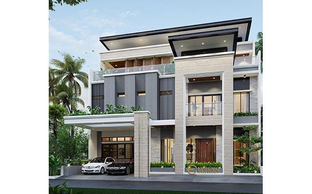 Desain Rumah Modern 2 Lantai Bapak Frangky di  Jakarta