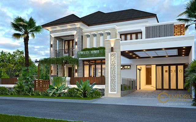 Desain Rumah Villa Bali 2 Lantai Bapak Halim di  Jakarta