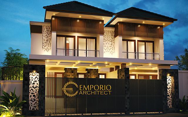 Desain Rumah Villa Bali 2 Lantai Bapak Hani di  Jakarta