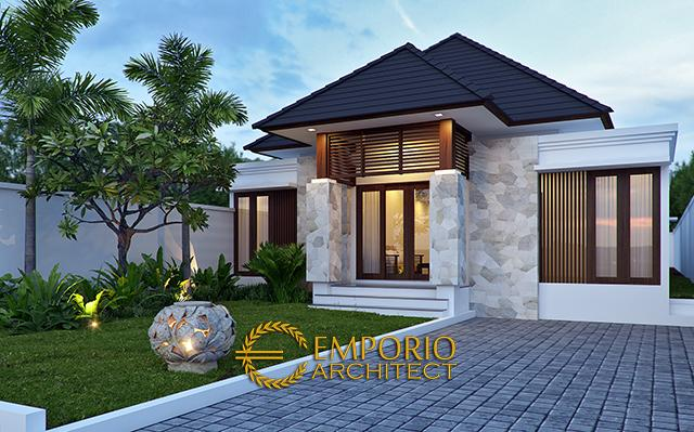 Mr. Hasiholan Villa Bali House 1 Floor Design - Medan