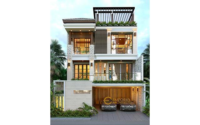 Desain Rumah Villa Bali 3 Lantai Ibu dan Bapak Rifki di  Jakarta