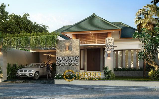 Desain Rumah Villa Bali 1 Lantai Bapak Ilham di  Jakarta