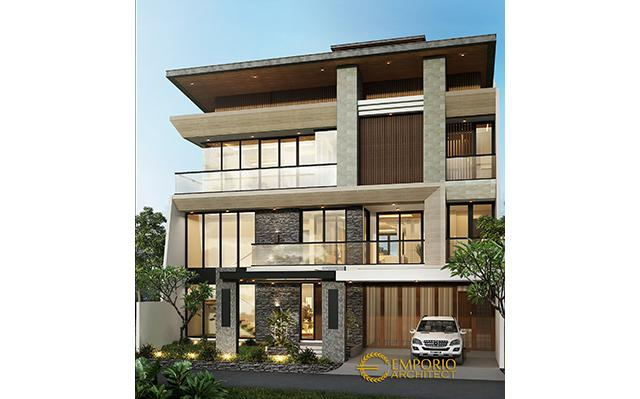 Mr. James Modern House 3 Floors Design - Jakarta