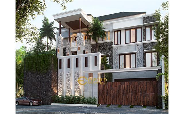 Desain Rumah Villa Bali 3 Lantai Bapak Martinus II di  Jakarta