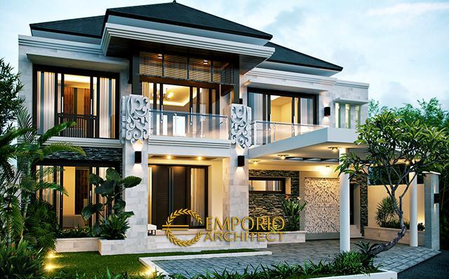 Desain Rumah Villa Bali 2 Lantai Bapak Restoq di  Cilangkap, Jakarta Timur