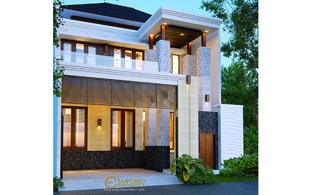 Desain Rumah Villa Bali 2 Lantai Bapak Rithik di  Jakarta