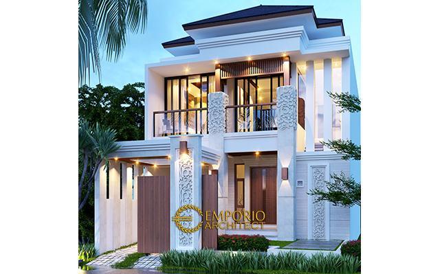 Desain Rumah Villa Bali 2 Lantai Ibu Riyanto di  Jakarta