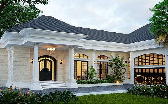Desain Rumah Classic 1 Lantai Bapak Taruna di  Jakarta