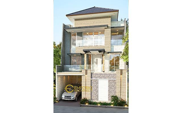 Desain Rumah Modern 3 Lantai Bapak Widy di  Jakarta