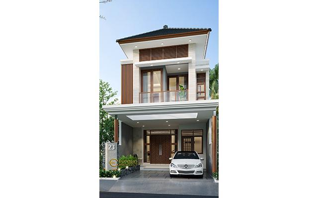 Desain Rumah Modern 2 Lantai Ibu Ayu di  Jakarta