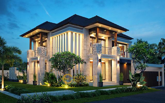 Desain Rumah Villa Bali 2 Lantai Ibu Dede di  Jawa Barat