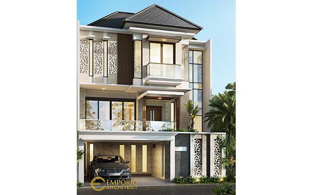 Desain Rumah Modern 3 Lantai Ibu Devi di  Jakarta