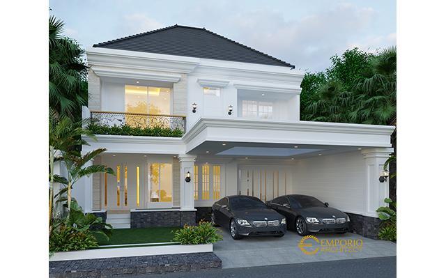 Desain Rumah Classic 2 Lantai Ibu Diana di  Jakarta
