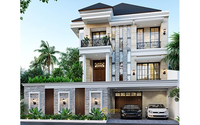 Mrs. Diaz Classic House 2.5 Floors Design - Jakarta