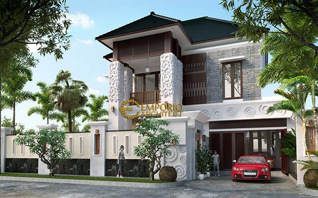 Desain Rumah Villa Bali 2 Lantai Ibu Fara Duister di  Jakarta