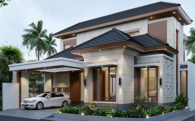 Desain Rumah Hook Modern 2 Lantai Ibu Frieza di  Jakarta