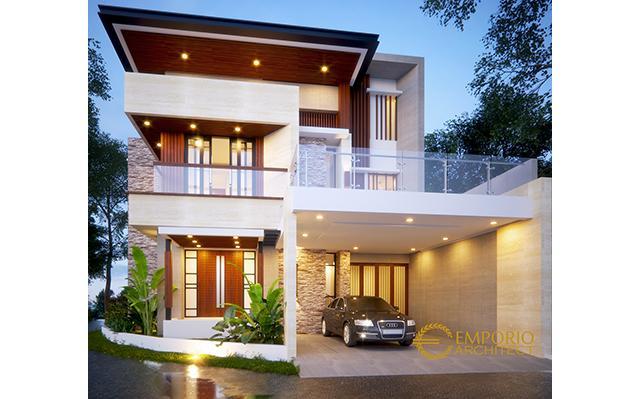 Desain Rumah Hook Modern 3 Lantai Ibu Gitasha di  Jakarta