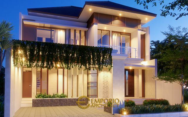 Desain Rumah Villa Bali 2 Lantai Ibu Heny di  Jakarta